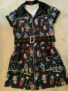 Hell Bunny Vintage Tattoo Dress Size Small