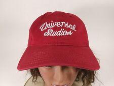 Universal Studios Script Emproidery Ball Cap Hat Red