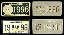 License Plate Olympic Pin Badge ~ Lot of 4 ~ 1996 Atlanta Collection Set