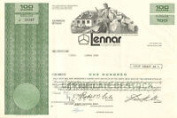 Lennar Corporation > Homebuilder stock certificate