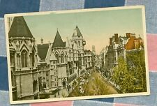 Old Postcard London England Law Courts Fleet Street
