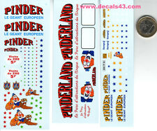 decalque  decals decalcomanie divers deco   cirque pinder 1/43