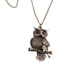 THE WISE OWL VINTAGE ANIMAL CHARM PENDANT NECKLACE - ITEM A1-0006