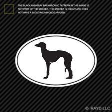 Saluki Euro Oval Sticker Die Cut Decal Self Adhesive Vinyl dog canine pet