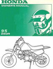 1995 HONDA Z50R MINI MOTOCROSS MOTORCYCLE OWNERS MANUAL -HONDA Z 50 R-Z50 R