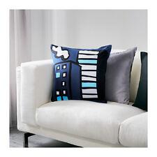 "Ikea Gitte Blue Zipper Cushion Cover 20 x 20 """