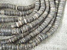 1 string approx 180 Perles Coco Surfeur Hippy fabrication de bijoux marron foncé 8x4.5 mm