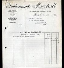 """PARIS (III°) BALAIS pour DYNAMOS & MOTEURS """"MORGANITE / Ets MARSHALL"""" 1936"""