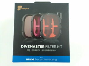 POLARPRO DIVEMASTER FILTER KIT FOR GOPRO HERO 8 PROTECTIVE HOUSING FOR DIVING
