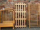 Babies/Young Child's Preowned Sturdy Light Brown Wood Cot/ Bed/Nursery Furniture