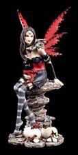 Elfen Figur mit Drachen Jungen - Natascha rot - Fee Fantasy Deko