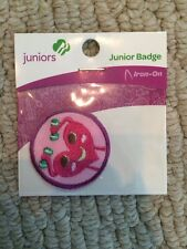 Junior Girl Scouts Badge Patch Staying Fit