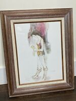 Susan Sahall Framed Matted Signed Numbered Lithograph Female Dancer Ballerina