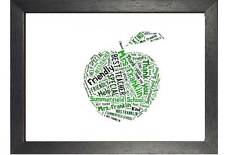 Personalised Teacher Christmas Gift Word Art Thank You Apple Gifts Present