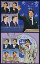 Liberia MI 4791-4 m/s MNH President Ronald Regan