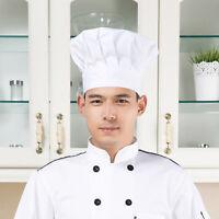 Unisex Chef Hat Adjustable Cook Hat Baker Hat Elastic Cap White