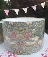 STRAWBERRY THIEF SLATE (DUCK EGG) MORRIS LAMPSHADE MATCHES JOHN LEWIS CURTAINS
