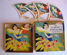 Vintage Bridge Card Game Tally Set w/ Deco Tallies Pad and Box Unused !     A