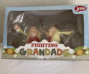 Fighting Grandads Fun Wind Up Action By Bluw Jam Novelty Desktop Figures Unused!