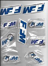 porte clés  lot de 6 + 3 autocollants de la fédération de moto  FFM