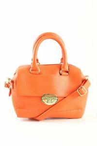 TOPSHOP Handtasche hellorange-goldfarben Casual-Look Damen Tasche Bag Handbag