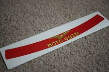Moto Guzzi Visor Helmet Sunstrip Sport Racing Motorbike Bike Decal Sticker Red
