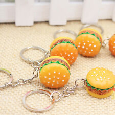 3D Resin Hamburger Pendant Keychain Simulation Food Keyring Promotional