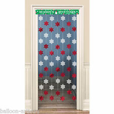1.2m Christmas Snowflake Season's Greetings Door Doorway Curtain Decoration