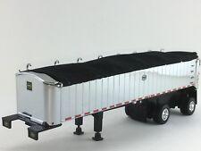 1/64 DCP CHROME MAC SPREAD AXLE COAL DUMP TRAILER W/ BLACK TARP
