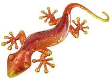 Glass and Metal Wall Art 44 cm Gecko / Lizard