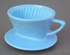 Porte filtre MELITTA en porcelaine bleue 100 3 trous déco cuisine cafetière