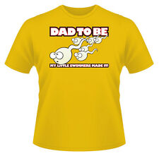 Men's T-Shirt, Funny Rude Dad To Be Ideal Birthday Gift or Present