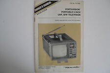 REALISTIC PORTABLE 5' UHF, B/W TELEVISION (MANUAL ONLY)....RADIO_TRADER_IRELAND.