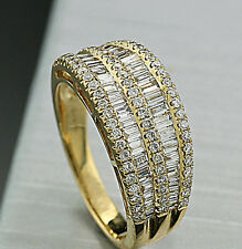 BRILLANTE DIAMANTE ANILLO 1,14 CT H/SI EN ORO AMARILLO 750 NEU