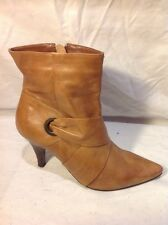 Barratts Brown Ankle Leather Boots Size 4