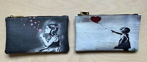 pochette donna eco pelle astuccio porta trucchi e documenti,  idea regalo-bansky
