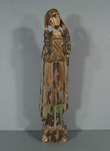 SAINT AVERTIN GUÉRISSEUR SCULPTURE STYLE ROMAN STATUE RELIGIEUSE BOIS POLYCHROME