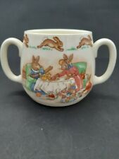 ROYAL DOULTON Bunnykins tea party double handle child's mug.  Made in England.