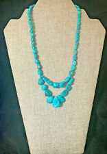 "Jay King Seven Peaks Turquoise 18"" Sterling Silver Necklace  NWT"