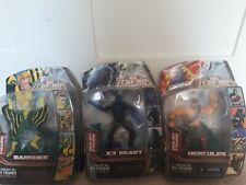 Marvel Legends figure lot Banshee, Hercules And X3 Beast. Annihilus series.