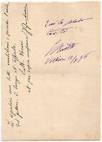 Autografo dello scrittore Gerolamo Rovetta (Brescia, 1851 - Milano, 1910)