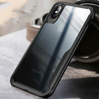 Shockproof Hybrid Clear Hard PC Slim Case Cover For iPhone XS Max XR SE 5s 678+