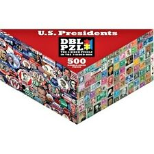 U.S. Presidents Stamps Campaign- 500 pc Double Sided Jigsaw Puzzle Pigment & Hue