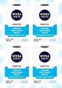 4 Nivea Men Sensitive Cooling Post Shave Balm 3.3 OZ