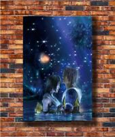 Hot Fabric Poster Final Fantasy X Tidus and Yuna Game T173 36x24 30x20 Z2251