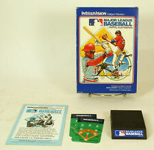 Vintage Boxed Intellivision Game Major League Baseball Tested & Working Cib