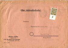 Deutsche Briefmarken der alliierten Besatzung mit Einzelfrankatur für Post, Kommunikation