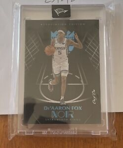 De'Aaron Fox 2019-20 Panini Noir Association Edition One Of One 🔥 Kings 1 Of 1
