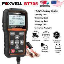 Foxwell BT705 12-24V Battery Analyzer Tester Cranking/Charging System Test Tools