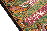 Vintage Indian Pure Silk Kantha Saree Fabric Hand Embroidered Sari Home Decor
